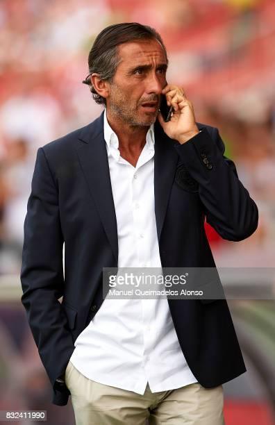 Manchester City assistant coach Manel Estiarte during the preseason friendly match between Girona and Manchester City at Municipal de Montilivi...