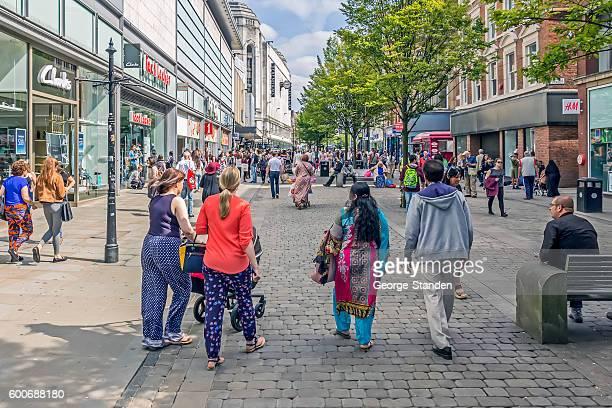 manchester city center - manchester reino unido fotografías e imágenes de stock