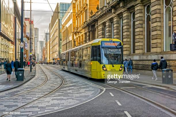 manchester city centre. - manchester england stock pictures, royalty-free photos & images