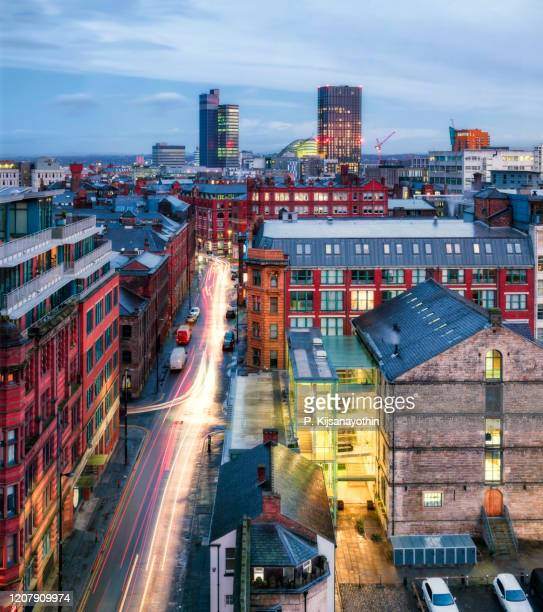 manchester city centre - skyline stock pictures, royalty-free photos & images