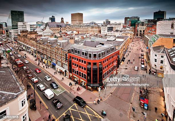 manchester city centre - manchester uk stock photos and pictures