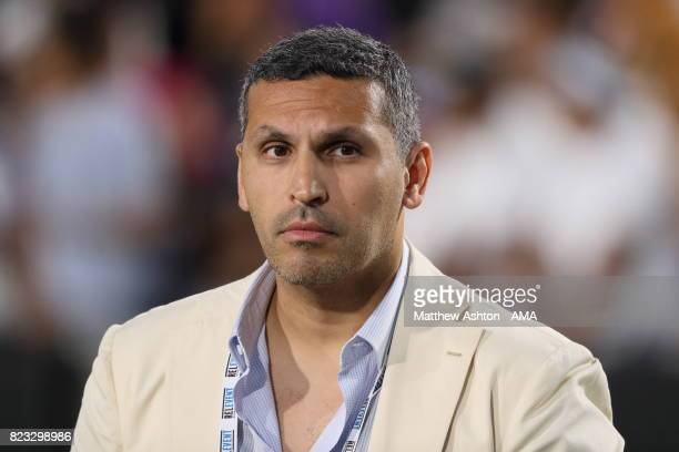 Manchester City Chairman Khaldoon Al Mubarak during the International Champions Cup 2017 match between Manchester City and Real Madrid at Los Angeles...