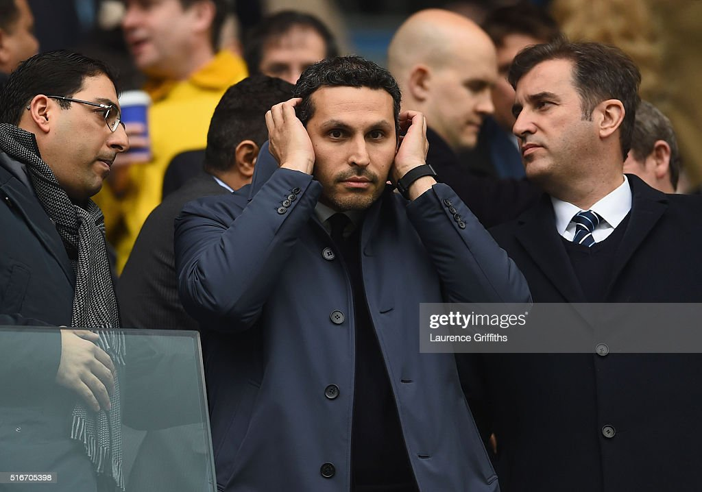 Manchester City Chairman Khaldoon Al Mubarek looks on prior to the the Barclays Premier League match between Manchester City and Manchester United at Etihad Stadium on March 20, 2016 in Manchester, United Kingdom.