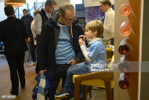 Manchester City City in the City 155 Bar and Kitchen London Guests attend the City in the City event at 155 Bar Kitchen in London ahead of Manchester...
