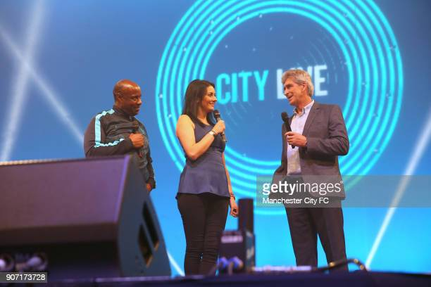 Manchester City City Live Manchester Central Manchester City manager Manuel Pellegrini is interviewed by Sky Sports presenters Natalie Sawyer and...