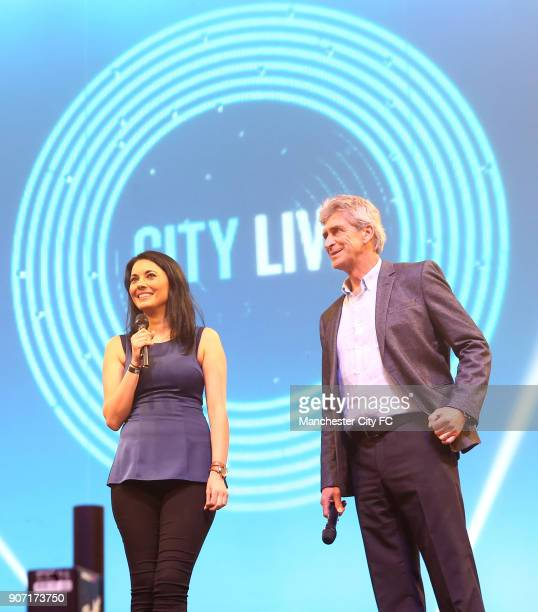 Manchester City City Live Manchester Central Manchester City manager Manuel Pellegrini is interviewed by Sky Sports presenter Natalie Sawyer