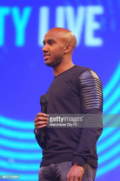 Manchester City City Live Manchester Central Manchester City's Fabian Delph on stage