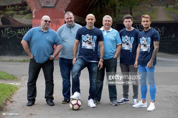 Manchester City Community Visit Pablo Zabaleta with fans and Aleix Garcia have a kick about with fans in the park