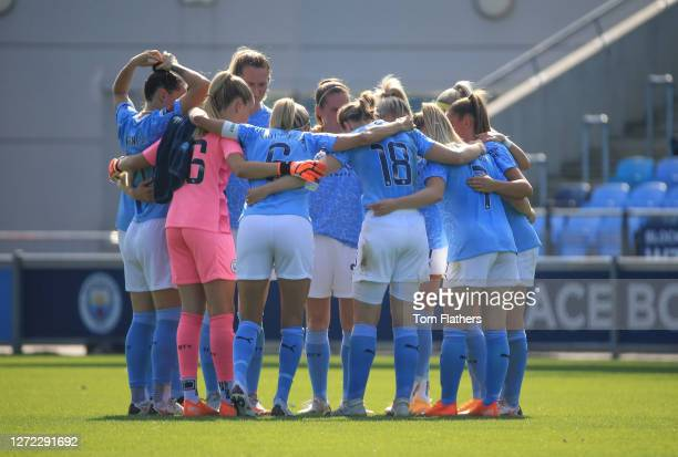 Manchester City during the Barclays FA WSL match between Manchester City Women and Brighton and Hove Albion Women at Manchester City Football Academy...