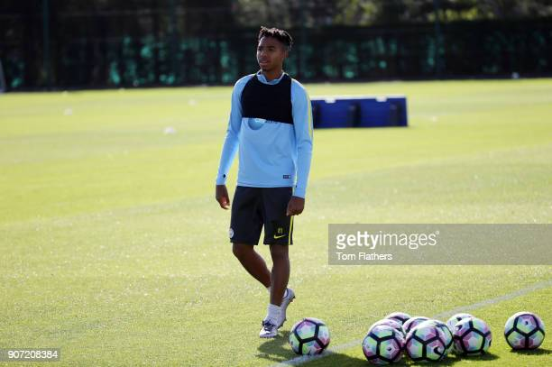 Manchester City EDS Training City Football Academy Manchester City's Demeaco Duhaney in training