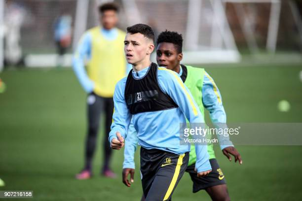 Manchester City EDS Training City Football Academy Manchester City's Phil Foden training