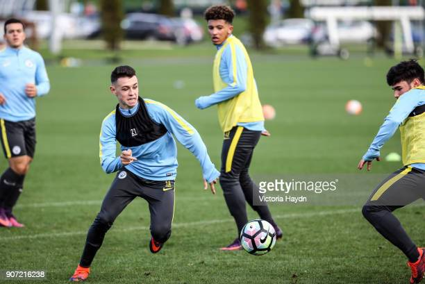 Manchester City EDS Training City Football Academy Manchester City's Phil Foden trains