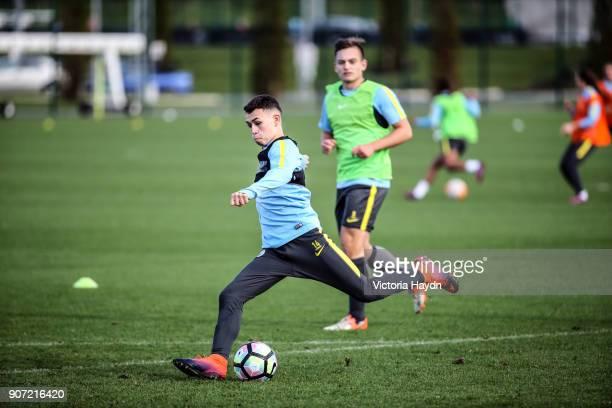 Manchester City EDS Training City Football Academy Manchester City's Phil Foden in training