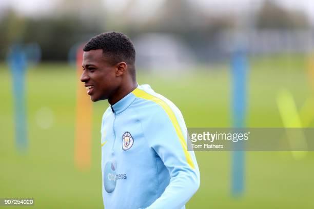 Manchester City EDS Training City Football Academy Manchester City's Javairo Dilrosun in training