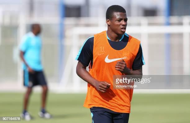 Manchester City EDS Training Day Three Spain Manchester City's Javairo Dilrosun in training A78Q3937jpg
