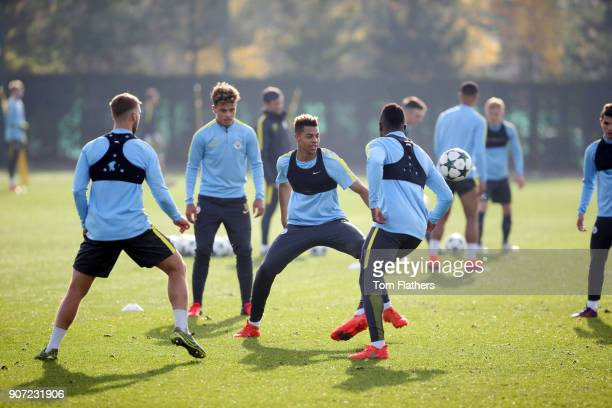 Manchester City EDS Training Session City Academy Manchester City's Lukas Nmecha in training