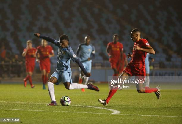 Manchester City EDS v Liverpool Premier League 2 Academy Stadium Manchester City's Javairo Dilrosun in action against Liverpool