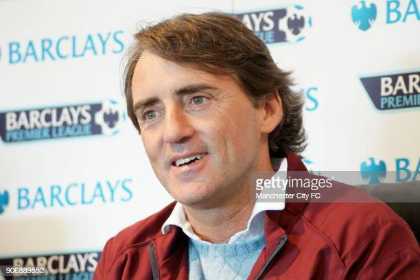 Manchester City FA Cup Final Preview Manchester City manager Roberto Mancini