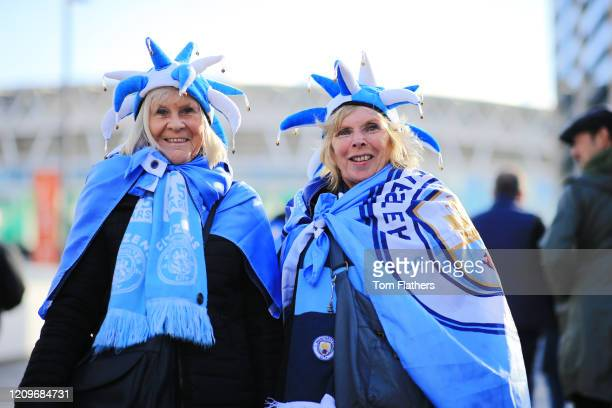Manchester City fans arrive at the stadium prior to the Carabao Cup Final between Aston Villa and Manchester City at Wembley Stadium on March 01 2020...