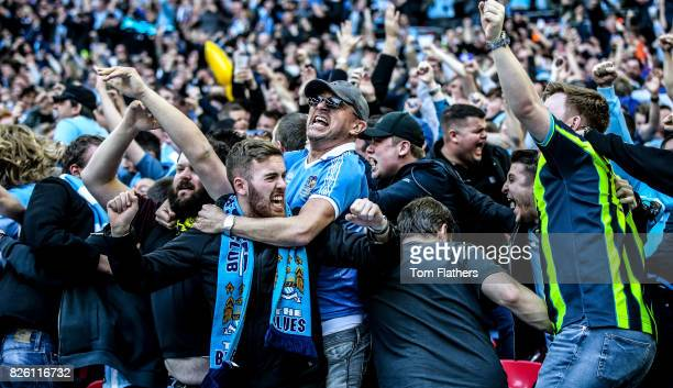 Manchester City fans during in the FA Cup Semi Final