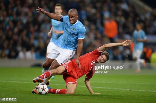 FUSSBALL CHAMPIONS Manchester City FC Bayern Muenchen Vincent Kompany gegen Thomas Mueller