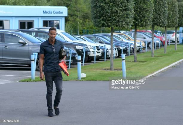 Manchester City FC Manchester City Players Report For Training Carrington Training Ground MCFC Scott Sinclair arrives at carrington training ground...