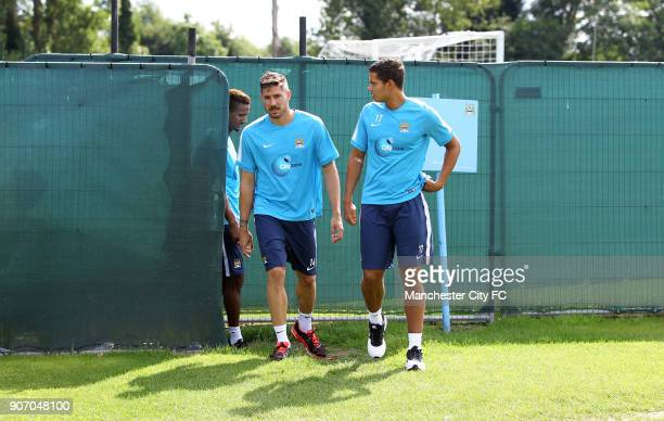 Manchester City FC Manchester City Players Report For Training Carrington Training Ground Manchester City's Jack Rodwell Javi Garcia and Scott...