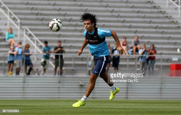 Manchester City FC Pre Season Tour of USA Manchester City Training Rutgers Manchester City's Karim Rekik during training