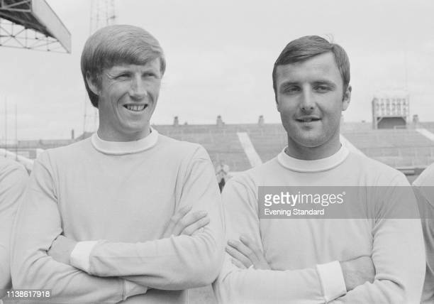 Manchester City FC soccer players Colin Bell and Glyn Pardoe UK 28th July 1969