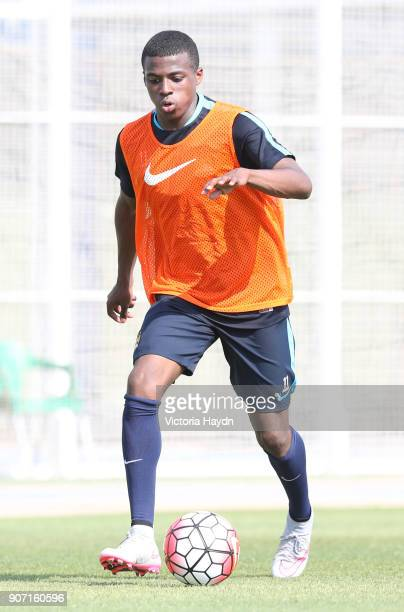 Manchester City FC U21's and Academy Pre Season Tour Spain Manchester City's Javairo Dilrosun in action