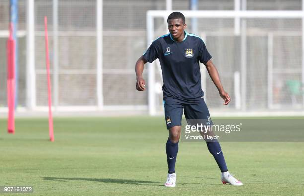 Manchester City FC U21s and Academy Pre Season Tour Spain Manchester City's Javairo Dilrosun in training