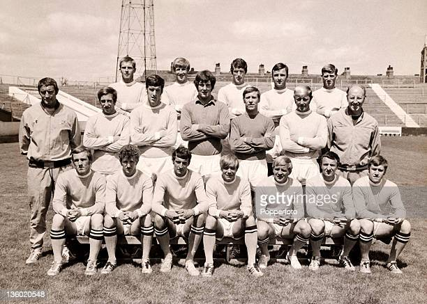 Manchester City Football Club at Maine Road in Manchester circa July 1969 Back row left to right Alan Oakes Colin Bell Mike Doyle Glyn Pardoe and...