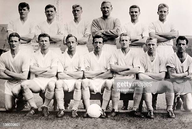 Manchester City Football Club at Maine Road Manchester circa October 1960 Back row left to right Ray Cheetham Barrie Betts Cliff Seer Bert Trautmann...