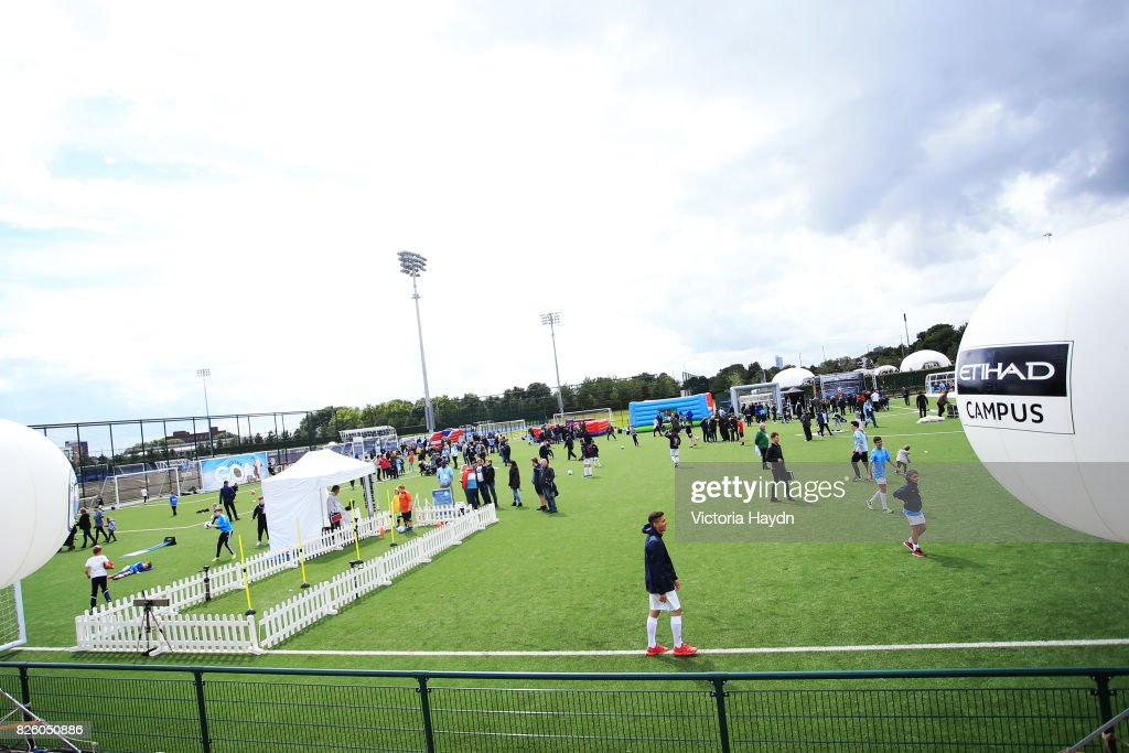 Manchester City Football Club hosts Cityzens Weekend at the CFA campus - activities all around.