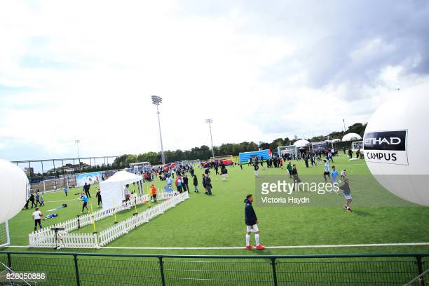 Manchester City Football Club hosts Cityzens Weekend at the CFA campus activities all around