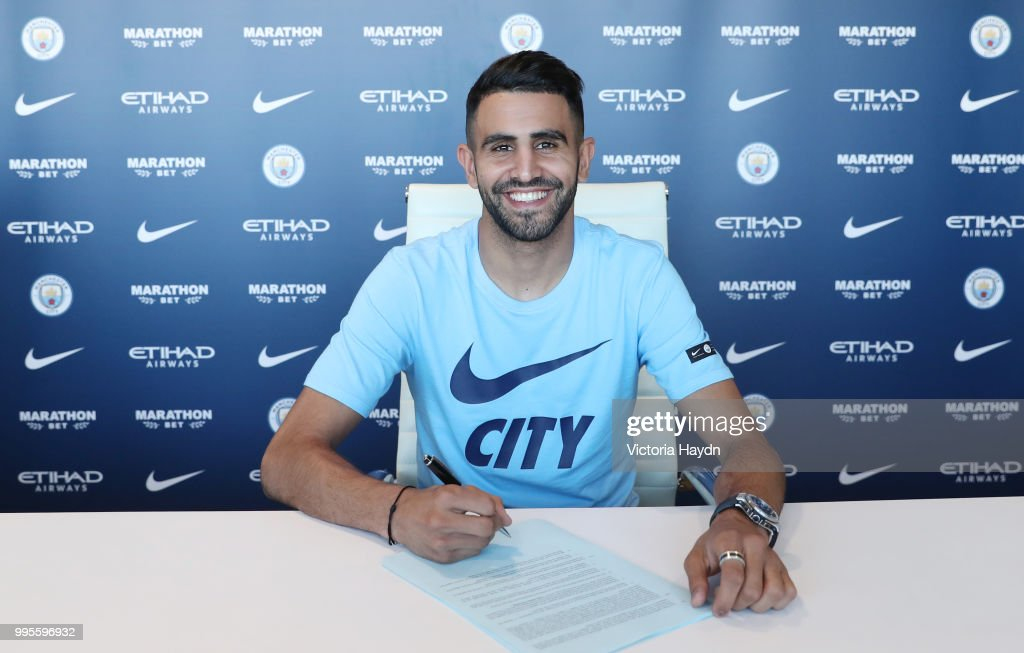 Manchester City Signs Riyad Mahrez : News Photo