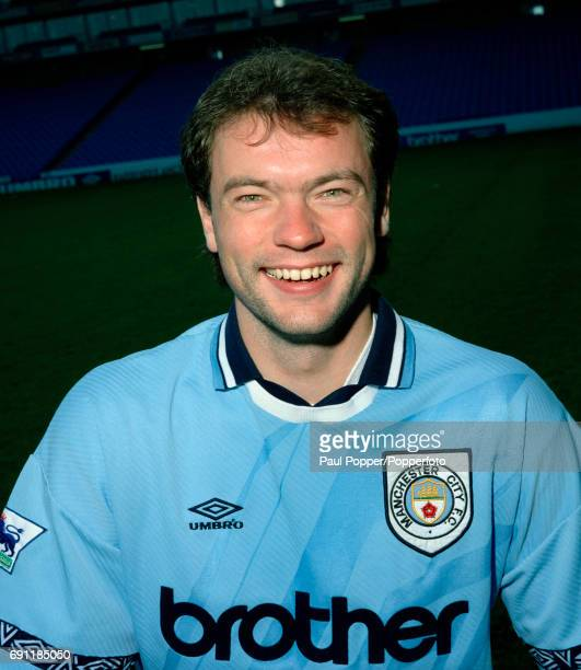 Manchester City footballer Uwe Rosler circa October 1994