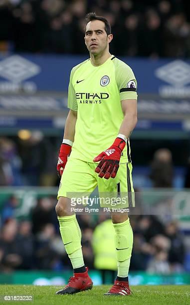 Manchester City goalkeeper Claudio Bravo