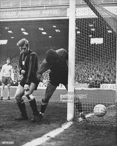 Manchester City goalkeeper Ron Healey fumbles the ball into his net during the European Cup Winners Cup SemiFinal 2nd Leg against Chelsea at Maine...