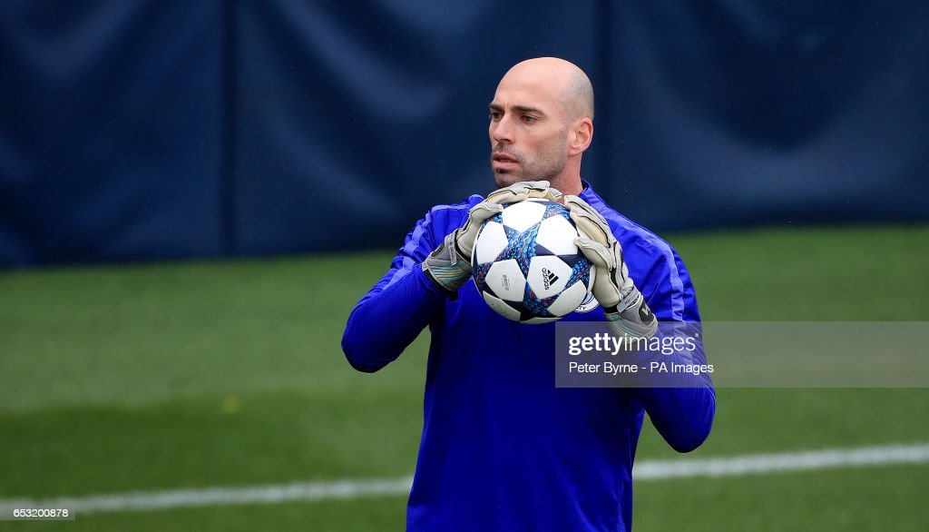 Manchester City goalkeeper Willy Caballero during the training session at the City Football Academy, Manchester.