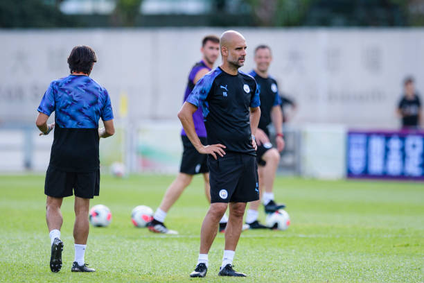 HKG: Manchester City Training Session