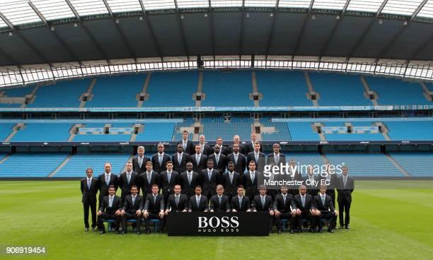 Manchester City Hugo Boss Partnership Team Photocall Etihad Stadium Costel Pantilimon Joe Hart Richard Wright Massimo Battara Eric Johansson 2nd back...