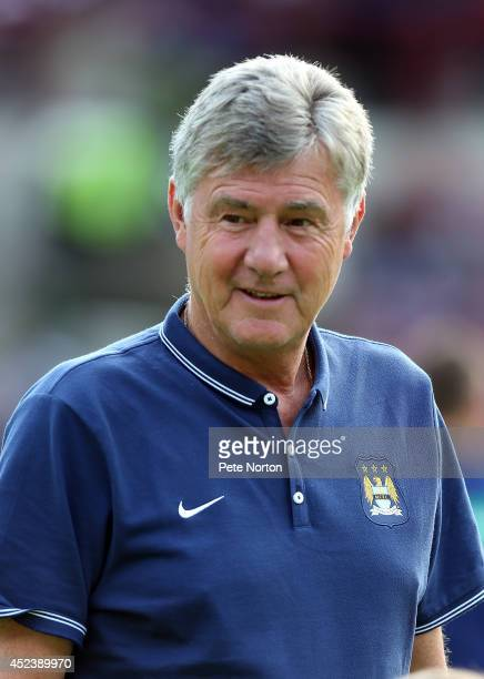 Manchester City joint assistant manager Brian Kidd looks on prior to the Pre Season Friendly match between Hearts and Manchester City at Tyncastle...