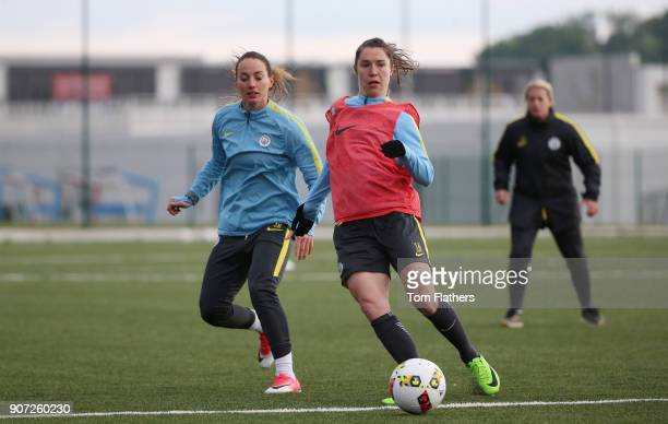Manchester City Ladies Train Lyon Manchester City's Jane Ross in training