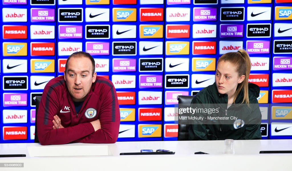 Manchester City Women's Training and Press Conference