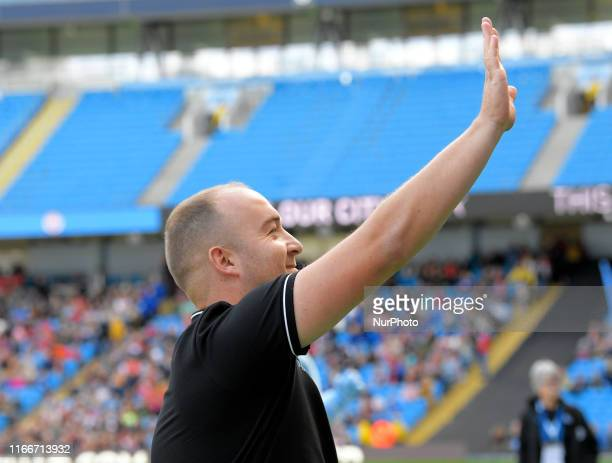 Manchester City manager Nick Cushing during English FA Women's Super League match between Manchester City and Manchester United at City of Manchester...