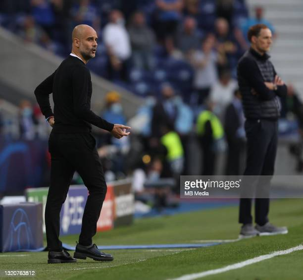 Manchester City Manager Pep Guardiola during the UEFA Champions League Final between Manchester City and Chelsea FC at Estadio do Dragao on May 29,...