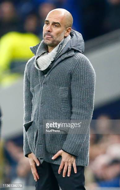 Manchester City manager Pep Guardiola during UEFA Championship League Quarter Final between Tottenham Hotspur and Manchester City at Tottenham...