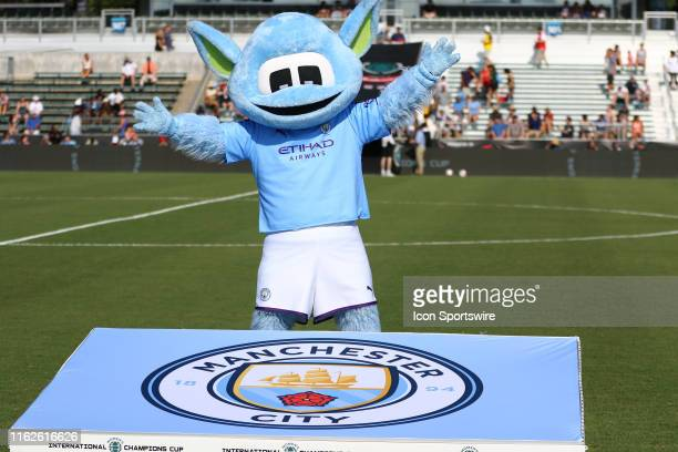Manchester City mascot during the 1st half of the Women's International Champions Cup game with Atlético Madrid Femenino versus Manchester City Women...