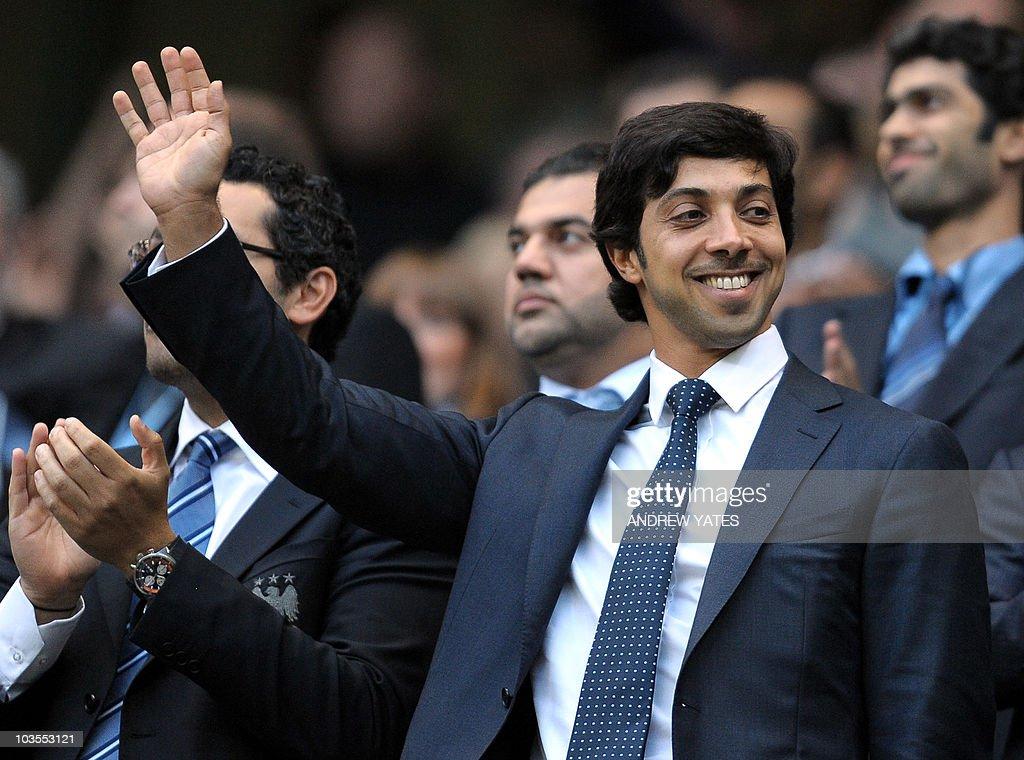 Manchester city owner Sheikh Mansour bin : News Photo